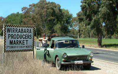 Wirrabara Producers Market Sign
