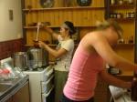 WWOOFers making jam