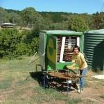 Loading our new 'LogiSolar' solar dryer